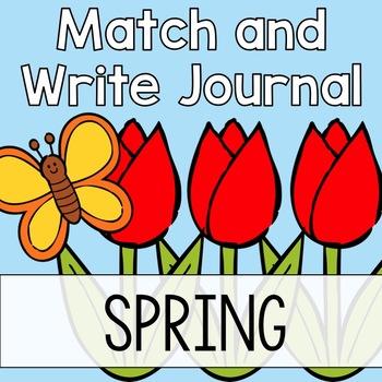 Spring Writing Journal: Match & Write