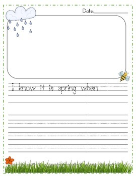 Spring Writing Notebook