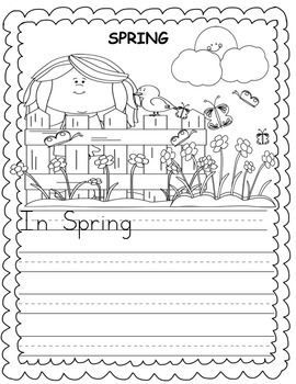 Anchor Charts, Writing Prompts & Paper {Spring Pack}