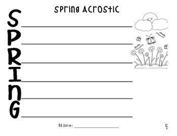 Spring Writing Pack! Great for April and May writing