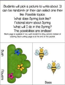 Spring Writing Packet