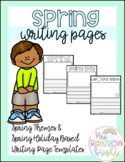 Spring Writing Page Templates