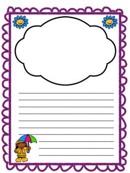 Spring Writing Pages - Feuilles d'écriture pour le printemps