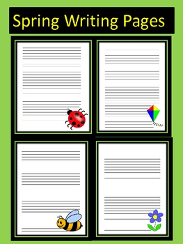 Spring Writing Pages Set of Seven