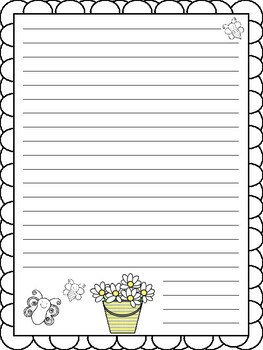 Spring Writing Paper - 3 styles