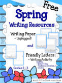 Spring Writing Paper {FREEBIE} ~ UNPLUGGED! & Friendly Let