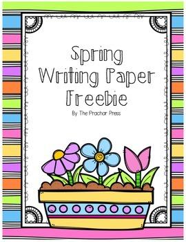 Spring Writing Paper Freebie