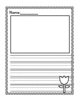 Spring Writing Paper Freebie (Kindergarten)
