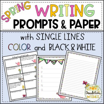 Spring Writing Paper - HWT Lines