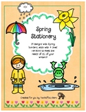 Spring Stationery- Lined Writing Paper with Fun Borders to Color!