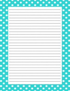 Spring - Writing Paper - With and Without Lines - Chevron, Polka-Dots, Flowers,