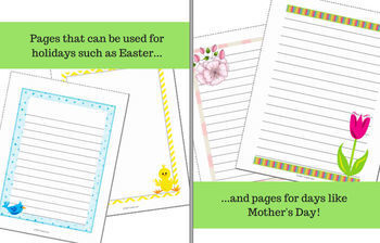 Spring Writing Paper for Reports, Poetry and Creative Writing (100+ designs!)
