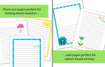 Spring Writing Paper for Reports, Poetry and Creative Writing