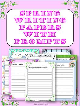 Spring Writing Paper with Prompts