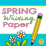 Spring Themed Writing Paper- with handwriting lines