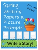 Spring Writing Papers and Picture Prompts and Lines