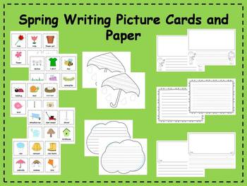 Spring Writing Picture Cards and Paper Writing Center