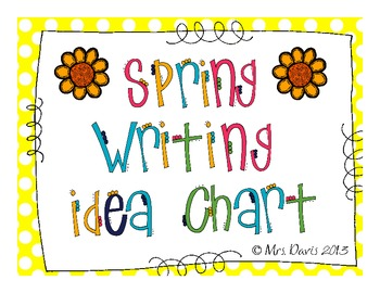 Spring Writing Prompt Chart