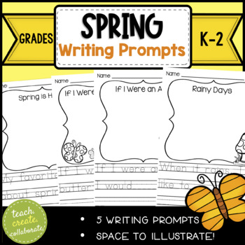 "Spring Writing Prompts PRINT & GO! ""In the spring.."" {KIND"