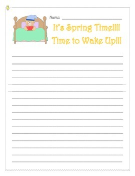 Spring Writing Prompt Narrative Common Core