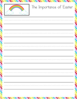 Spring Writing Prompt Notebooking Pages