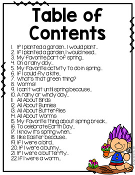 Spring Writing Prompts No Prep!