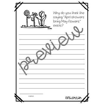 Spring Writing Prompts: Grades 2 - 5