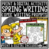 Creative Writing Comic Digital Spring Writing Prompts 4th Grade Google Slides