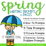 Spring Writing Prompts And Pages {47 prompts with 5 differ