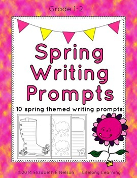 Spring Writing Prompts: Grades 1-2