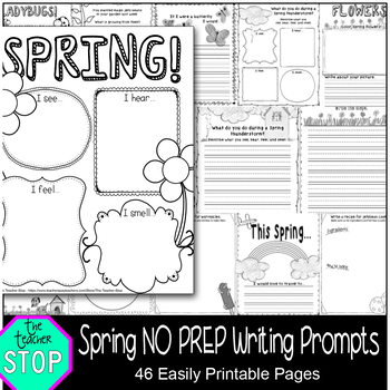 Spring Writing Prompts - Grades K - 2nd {The Teacher Stop}
