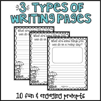 Spring Writing Prompts & Page Topper Craftivities