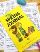 Spring Writing Prompts & Spring Writing Journal - Full Page or Mini Book
