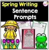 Spring Writing Sentence Prompts and Writing Craftivity