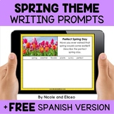 Spring Writing Prompts for Google Classroom - Distance Learning