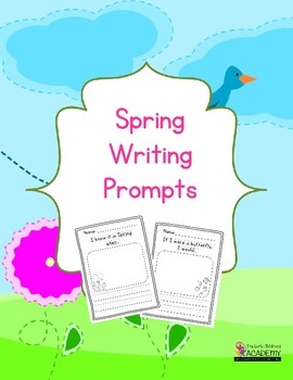 Spring Writing Prompts for Preschool