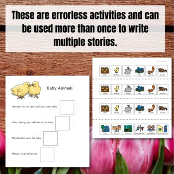 Spring Writing Prompts for Special Education plus a BONUS