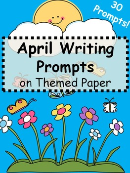 Spring Writing Prompts on Themed Paper {Just Print & Go!}