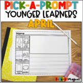 Spring Writing Prompts with Pictures Kindergarten April Pi