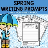 Spring Writing Prompts with Self-Check Rubric