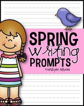 Spring Writing - Prompts with Writing Paper