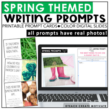 Spring Writing Prompts {with real photos}