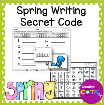 Spring Writing Secret Code Worksheets And Activities By Creativecota
