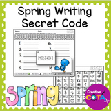 Spring Writing Secret Code Worksheets and Activities