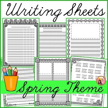 Spring Writing Sheets