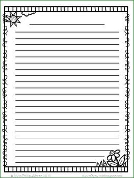 Spring Writing Sheets