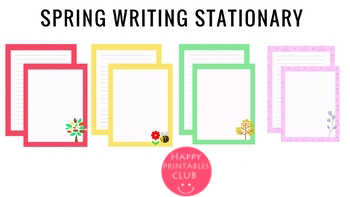 Spring Writing Stationary