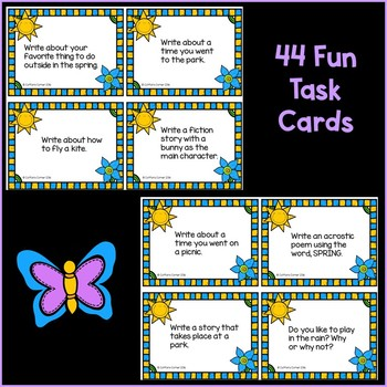 Spring Writing Task Cards