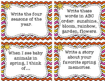 Spring Writing Task Cards