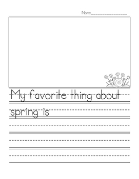 Spring Writing Template